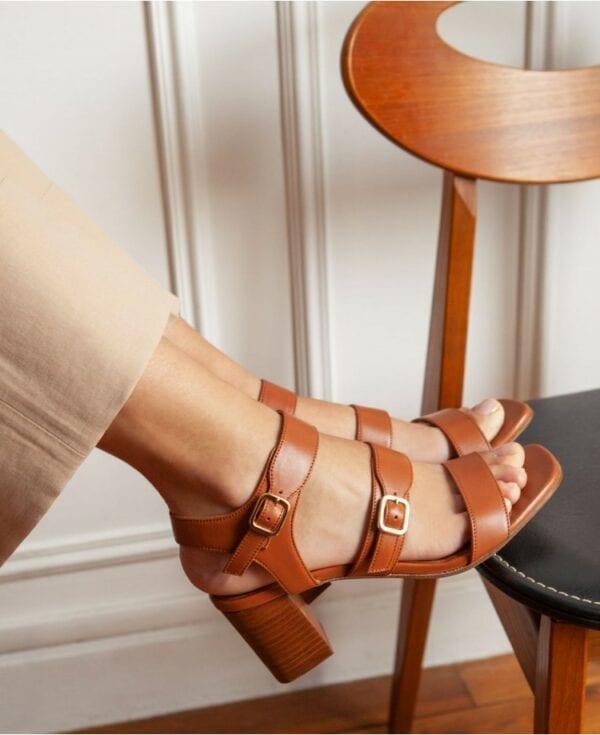 Sandales 45 Cognac