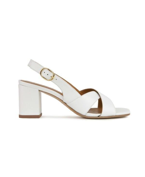 Sandales n°652 Leather Blanc