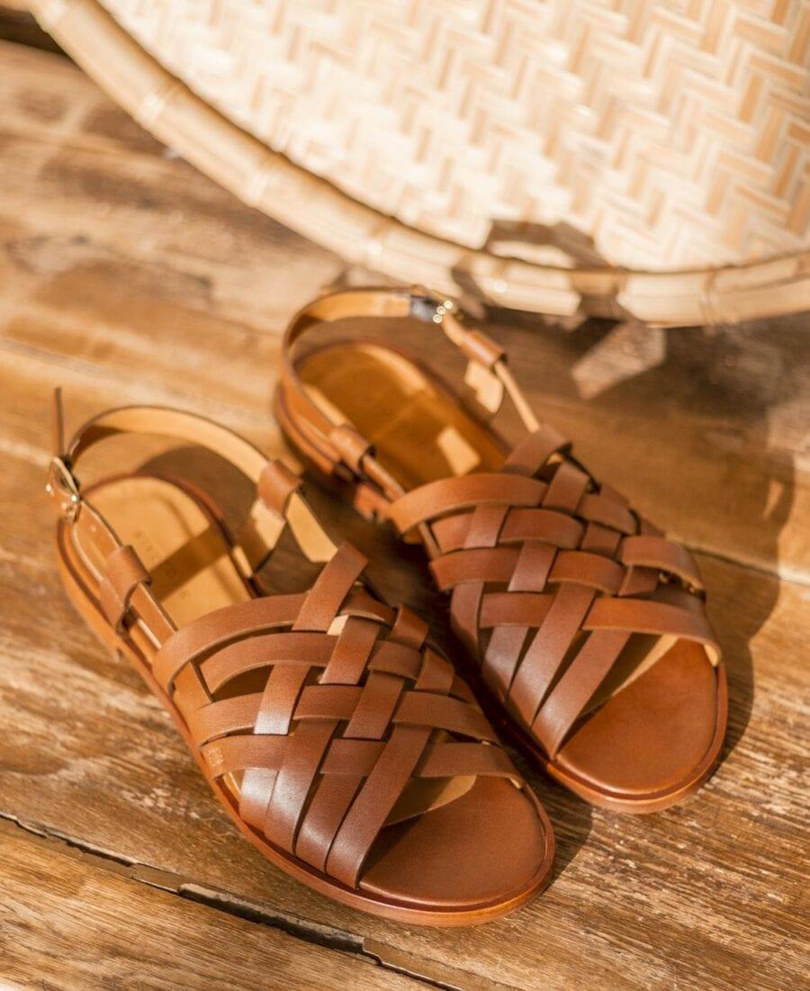 Sandale n°63 Leather Cognac