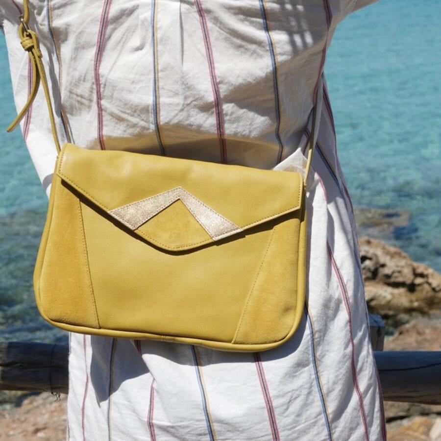Grand sac à bandoulière en cuir COLETTE